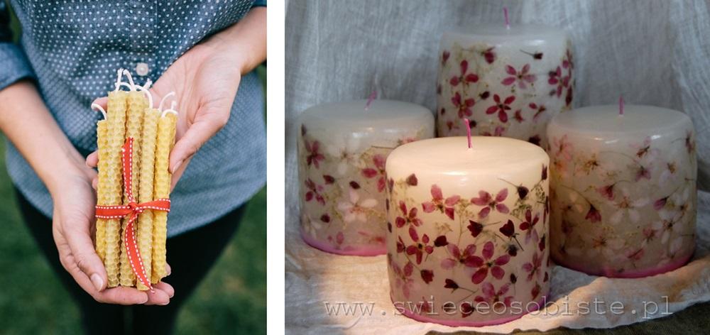 źródła zdjęć: http://swieceosobiste.pl/ oraz http://ohhappyday.com/2012/12/beeswax-candle-diy/